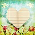 greeting card Valentine day by Setsiri Silapasuwanchai