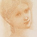 Head Study Of A Girl by Sir Edward Burne-Jones