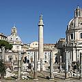 Imperial Fora With The Trajan's Column And The Church Santissimo Nome Di Maria.  Rome by Bernard Jaubert