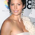 Jessica Biel Wearing A Giambattista by Everett