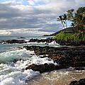 Ke Lei Mai La O Paako Oneloa Puu Olai Makena Maui Hawaii Print by Sharon Mau