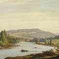 Landscape With River by Sanford Robinson Gifford