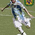 Lionel Messi The Kick Art Deco by Lee Dos Santos