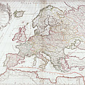 Map Of Europe by Fototeca Storica Nazionale