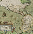Map Of North And South America by Abraham Ortelius