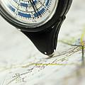 Map Wheel Print by Steve Horrell
