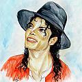 Michael Jackson - Keep The Faith Print by Nicole Wang