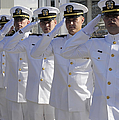 Officers Render Honors During A Change by Stocktrek Images