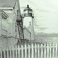 Pemaquid lighthouse  Print by Jack Skinner