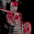 Red Knight Print by Lillian Michi Adams