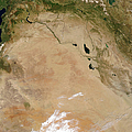 Satellite View Of The Middle East by Stocktrek Images