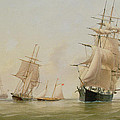 Ship Painting Poster by WF Settle