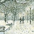 Snowing In The Park by Kalen Malueg