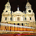 St. Paul's Cathedral In London At Night by Elena Elisseeva
