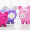 Studio Shot Of Piggy Banks by Vstock LLC
