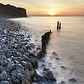 Sunset At The Remains Of Lilstock Pier by Nick Cable