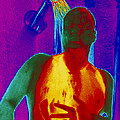 Thermogram Of A Man Taking A Shower by Dr. Arthur Tucker