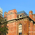 Uc Berkeley . South Hall . Oldest Building At Uc Berkeley . Built 1873 . The Campanile In The Back by Wingsdomain Art and Photography