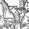 Watermill, Reversed Archimedean Screw by Science Source