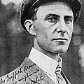 Wilbur Wright, Us Aviation Pioneer Print by Science, Industry & Business Librarynew York Public Library