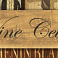 Wine Cellar Collage Print by Grace Pullen