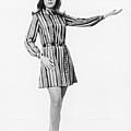 Woman Gesturing In Studio, (b&w) by George Marks