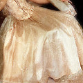 Young Lady Sitting In Satin Gown by Jill Battaglia