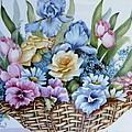 1119 B Flower Basket by Wilma Manhardt