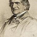 1867 Adam Sedgewick Portrait Print by Paul D Stewart