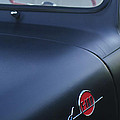 1953 Ford F-100 Pickup Truck Steering Wheel and Emblem Print by Jill Reger