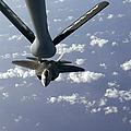 A Three Ship Formation Of F-22 Raptors Print by Stocktrek Images