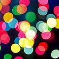 Blurred Christmas Lights by Elena Elisseeva