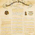 Emancipation Proclamation Print by Photo Researchers