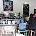 2 Girls At The Bakery Bar by Kym Backland