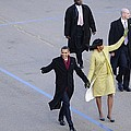 President And Michelle Obama Wave by Everett