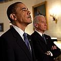 President Obama And Vp Biden by Everett