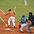 Professional Baseball Game In Taiwan by Yali Shi