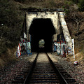 Train Tunnel At The Muir Trestle In Martinez California . 7d10220 by Wingsdomain Art and Photography