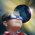 Watching Solar Eclipse by Detlev Van Ravenswaay