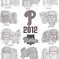 2012 Phightin' Phils by Chris  DelVecchio