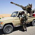 A Free Libyan Army Pickup Truck by Andrew Chittock