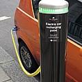 Recharging An Electric Car by Martin Bond