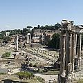 Temple Of Saturn In The Forum Romanum. Rome by Bernard Jaubert