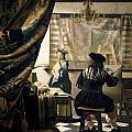The Artist's Studio Print by Jan Vermeer