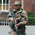 A Paratrooper Of The Belgian Army by Luc De Jaeger