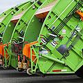 Garbage Truck Fleet Print by Don Mason