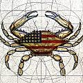 4th of July Crab Print by Charles Harden
