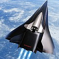 Saenger Horus Spaceplane, Artwork by Detlev Van Ravenswaay