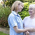 Nurse On A Home Visit by