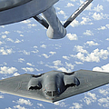 A B-2 Spirit Approaches The Refueling by Stocktrek Images